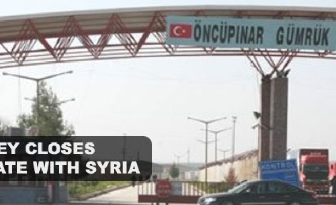 Turkey closes border gate with Syria