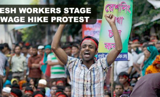 Bangladeshi workers stage biggest wage hike protest