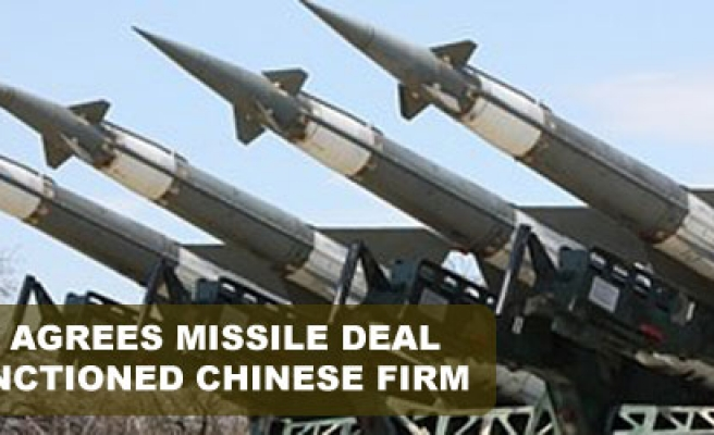 Turkey agrees missile deal with sanctioned Chinese firm