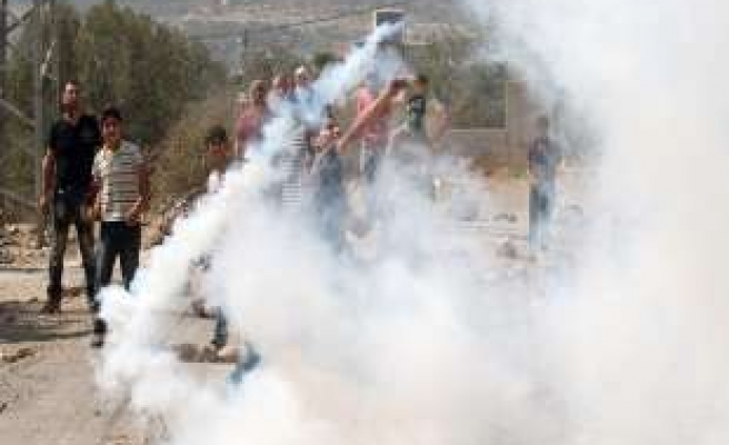 Palestinians protest separation wall