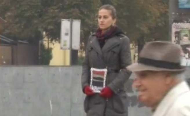 Bosnia woman who stands still focus of national attention