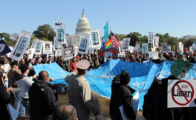 Hundreds march in US against NSA spying
