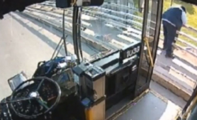 New York bus driver saves woman from jumping off bridge