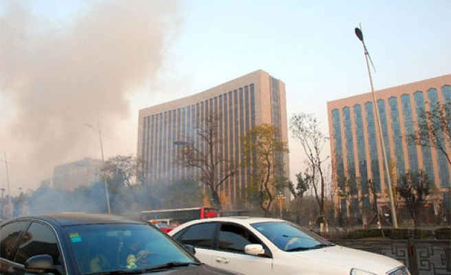 Explosions in front of Communist Party building in China