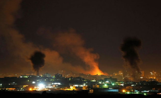 Israel airstrikes near Gaza power plant