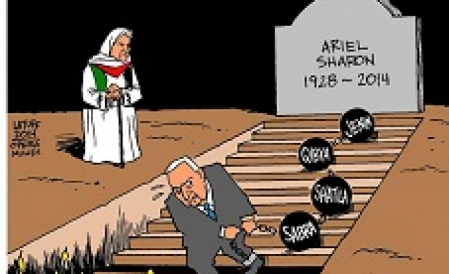 Caricature: 'The Butcher of Beirut' dies