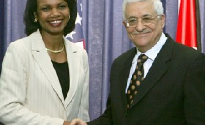 Rice meets Abbas for first time since Gaza seizure