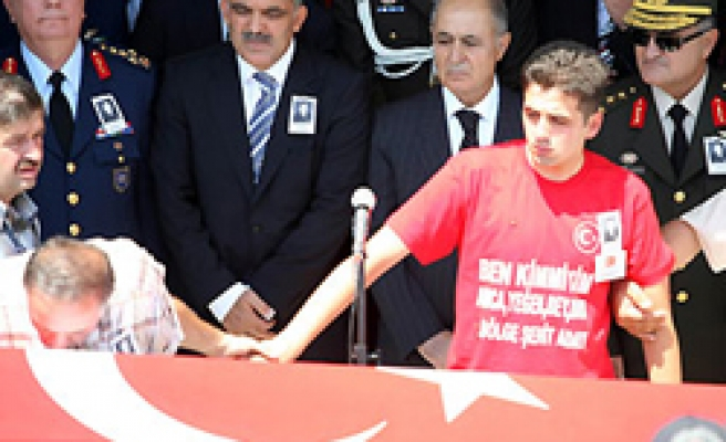 The top of Turkish state was in martyr's funeral
