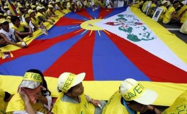 Tibetans in India protest Chinese government