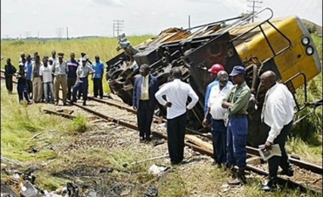 One killed, 55 injured as trains collide in Zimbabwe