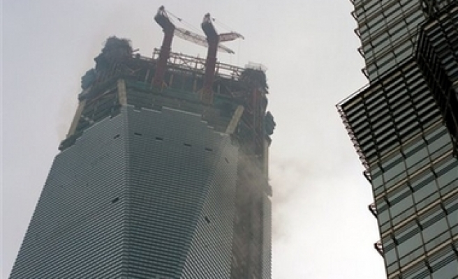 Fire breaks out at China's tallest building