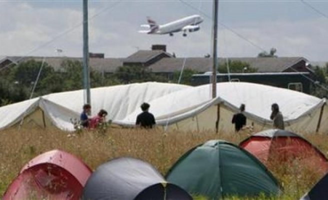 Tension mounts at Heathrow Airport camp stand-off