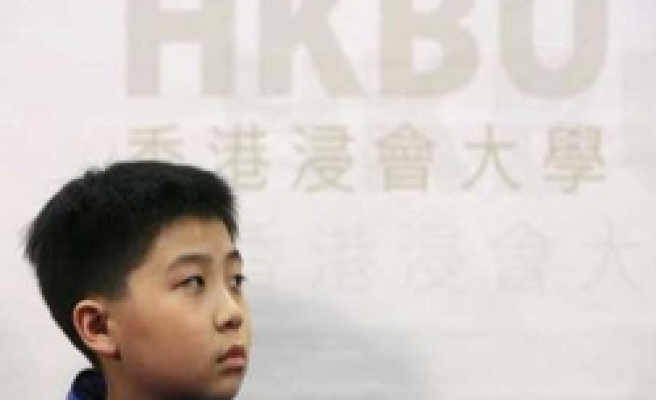 9-year-old boy accepted in Hong Kong university