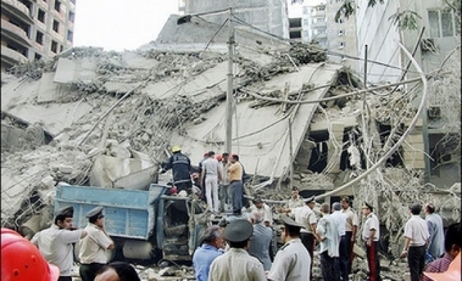 Two killed, 11 trapped in building collapse in Azerbaijan