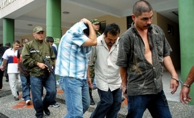 Colombia arrest 42 alleged FARC rebels, criminals