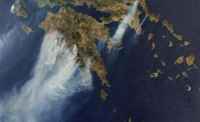 Greek forest fires could be CO2 threat