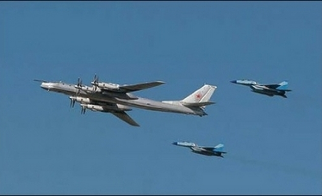 British jets intercept eight Russian bombers
