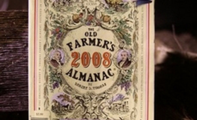 Almanac calls for warmer weather in 2008