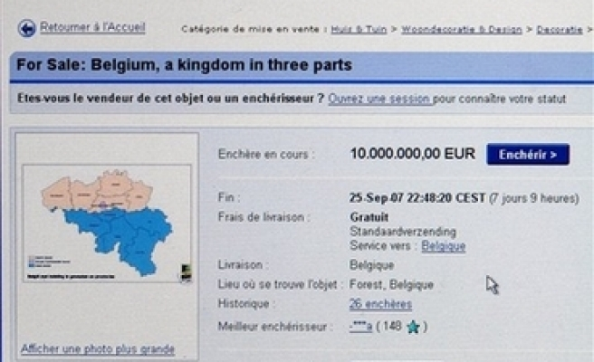 Someone tries to sell Belgium on eBay