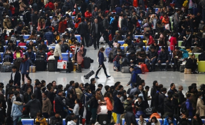 Airport riot mars end of China's new year holiday