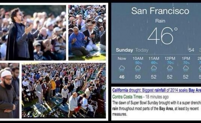 Hundreds of Muslims pray for rain in drought hit California