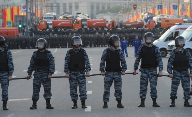 Moscow police say 200 detained outside protest trial courthouse
