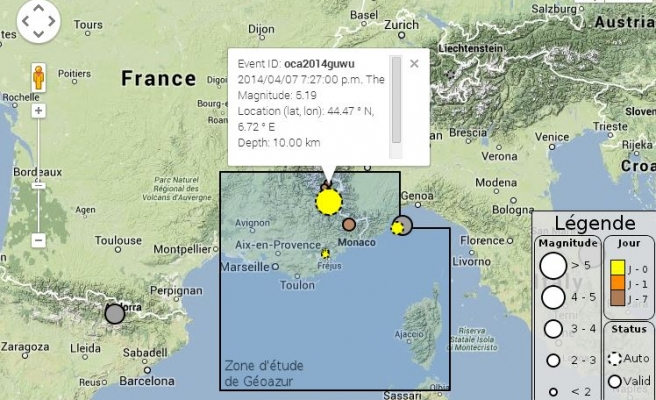 Earthquake rattles south-east France