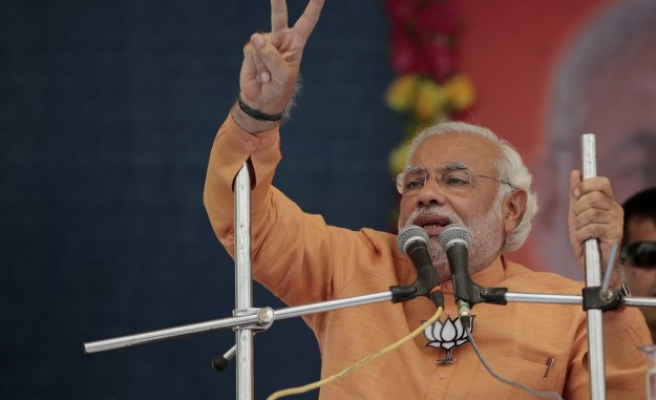 Indian ruling party wins election in Modi's home state