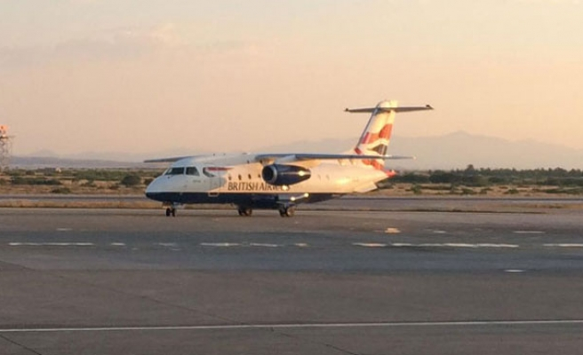 British Airways jet lands in North Cyprus