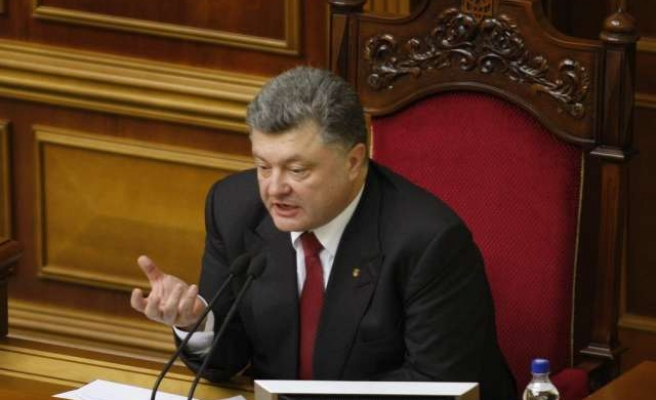 Ukraine's leader sees no military solution of crisis