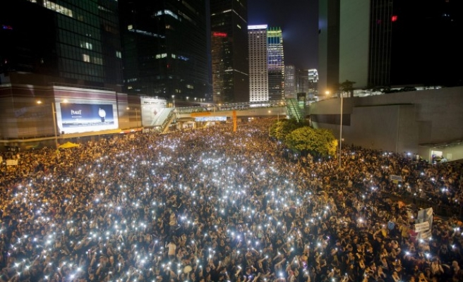 Hong Kong's protesters ignite campaign against Beijing
