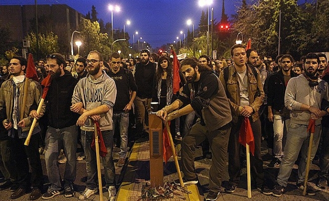 Greeks march against austerity to mark 1973 uprising