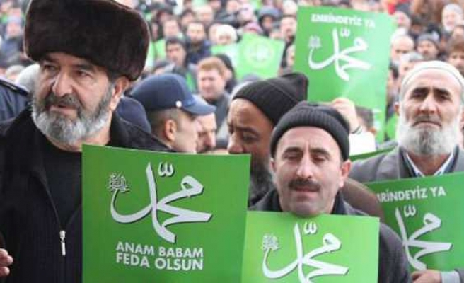Thousands join 'Respect for our Prophet' march in Turkey