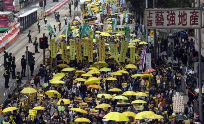 Pro-democracy protesters back in Hong Kong