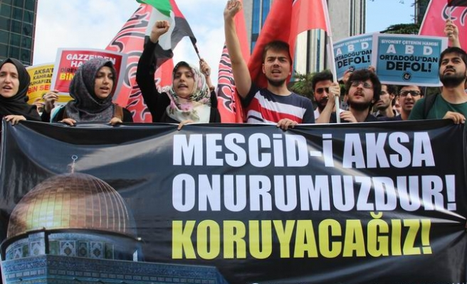 Israel's Al-Aqsa assault protested in Istanbul