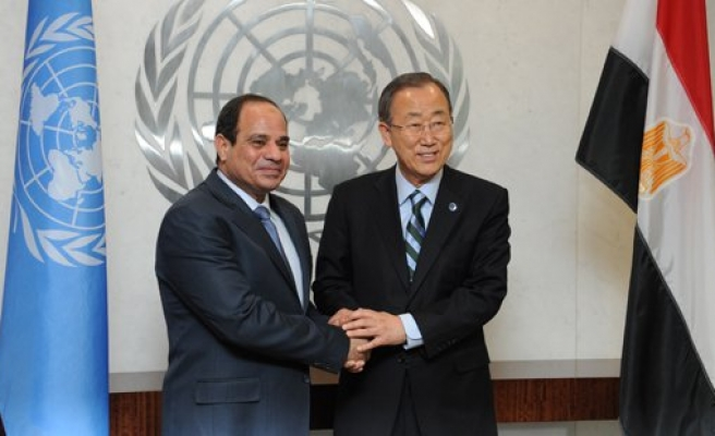 UN chief urges Egypt's Sisi to protect human rights