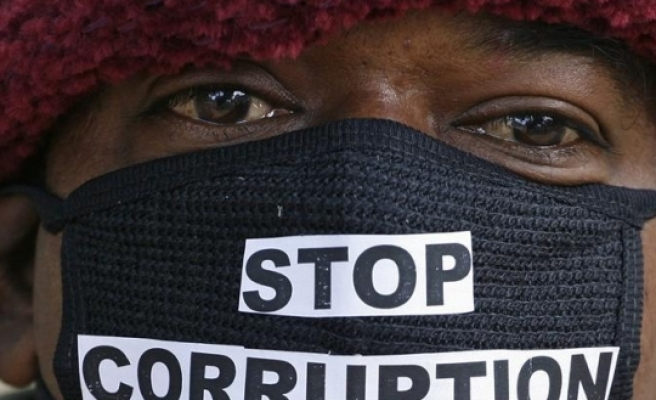 Anti-corruption protesters march in S.Africa