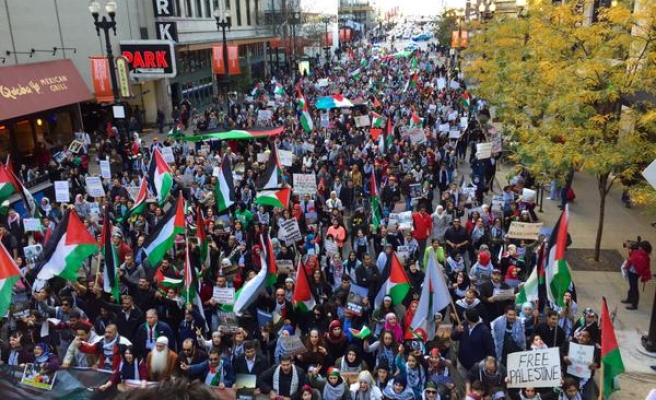 Pro-Palestinian protesters rally across US