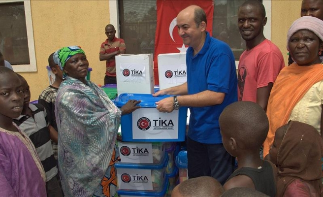 Turkish agency provides food aid to Nigerian refugees