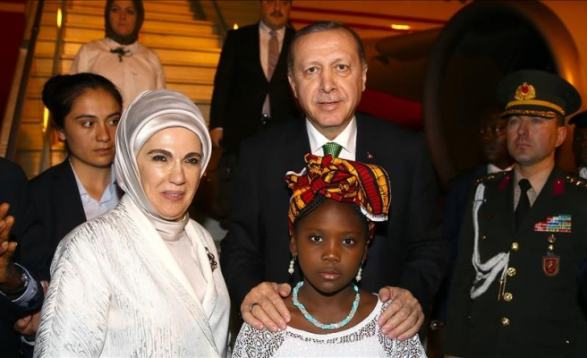 Turkish president arrives in Nigeria for one-day visit