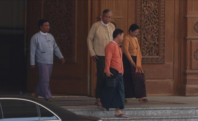 Myanmar elects 1st civilian president in decades
