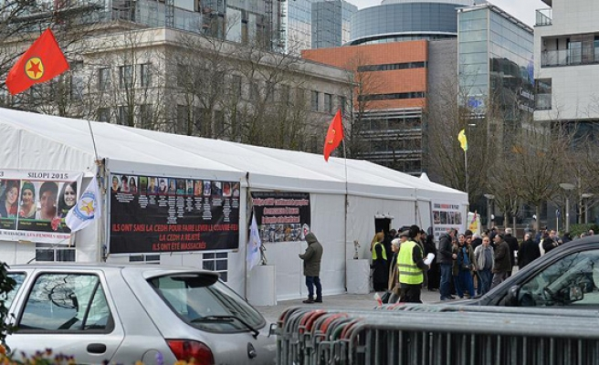 Belgium lets PKK supporters pitch tents before summit