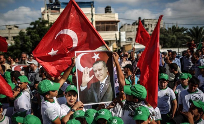 Palestinians rally to celebrate defeat of Turkey coup