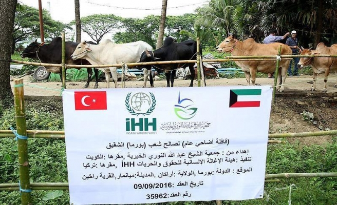 Turkish aid groups share with Myanmar Muslims for Eid