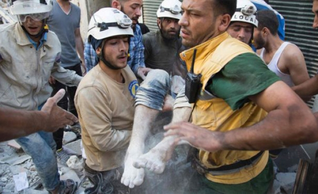 Syria's White Helmets win Swedish rights prize
