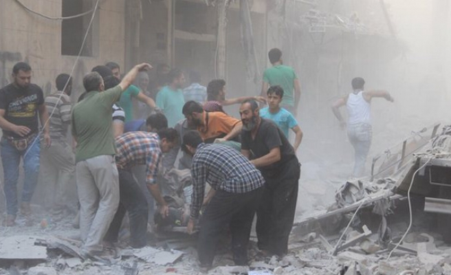 Civilians in Syria's besieged Aleppo issue cry for help