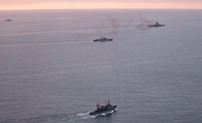 Syria-bound Russian naval force shadowed through North Sea
