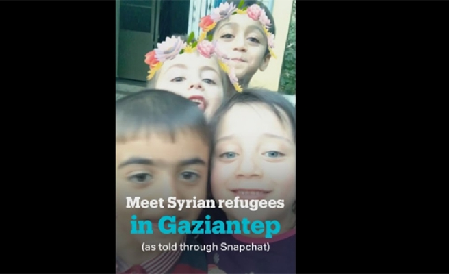 A look at lives of refugee children through Snapchat