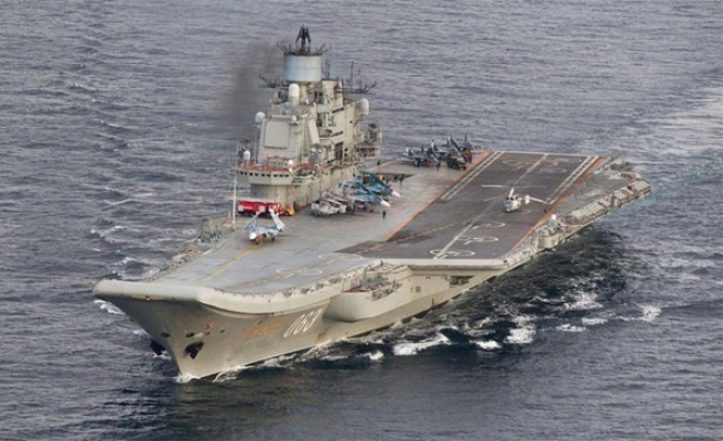 NATO 'concerned' Russian carrier may join Aleppo attacks