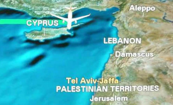 Chinese airline flies to 'Palestinian Territories'
